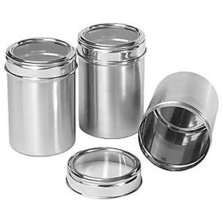 stainless steel kitchen storage canisters set of three stainless steel kitchen storage canisters with see through