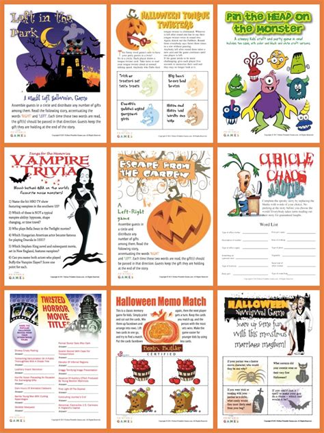 printable games halloween halloween activities sheets free loving printable