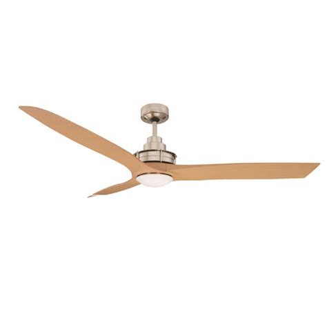 flinders ceiling fan led wall 56 quot brushed chrome