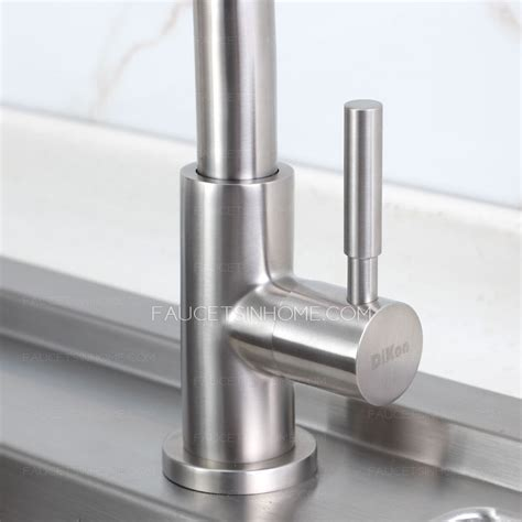inexpensive kitchen faucets inexpensive single rotatable kitchen faucets nickel brushed