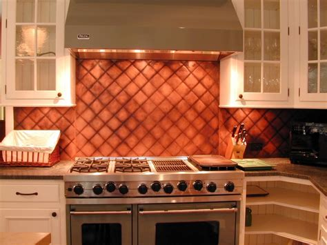 quilted copper backsplash kitchen designs