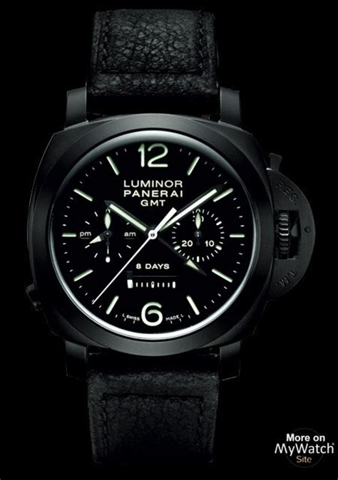 Luminor Panerai Chrono Leather 2 panerai luminor 1950 chrono monopulsante 8 days gmt made of ceramic black leather