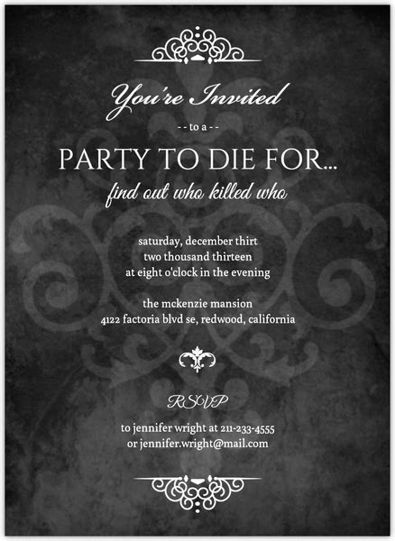 template murder mystery card murder mystery black dinner invitation dinner