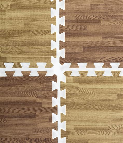 Dark Oak & Light Oak Wood Grain Floor Mats  (26) 2? x 2? Tiles