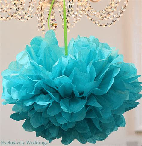 Make Paper Pom Poms - how to make tissue paper pom poms exclusively weddings