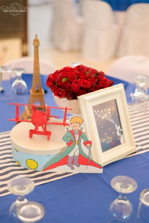 colin s the little prince themed party table centerpiece