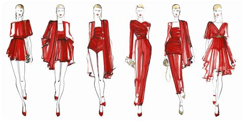 picture illustration fashion drawing four views when drawing a model magic