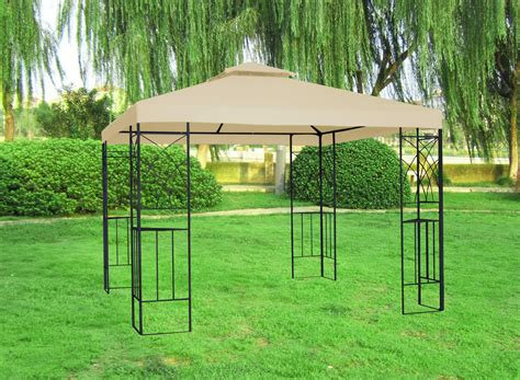 metal gazebo 3x3m metal gazebo pavilion garden canopy sun shade shelter