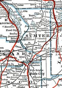 map of sumter county florida sumter county 1917