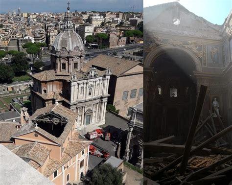 chiesa dei ladari a roma crollo a roma danni chiesa di san giuseppe dei falegnami