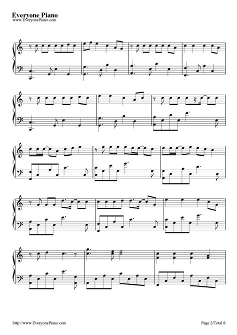 Wedding Dress Taeyang Piano Sheet by Wedding Dress Taeyang Stave Preview 2 Free Piano Sheet