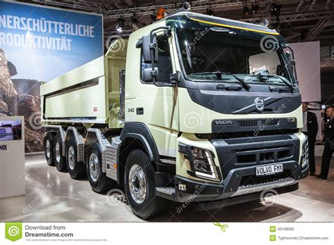 volvo commercial vehicles volvo fmx dump truck editorial image image of 2014