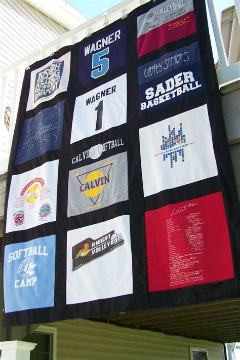 Memory Quilts Made From T Shirts by Crafted T Shirt Memory Quilt Blanket 12 Block By
