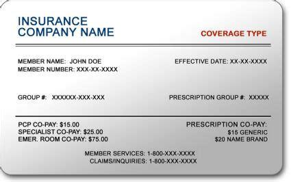 make insurance card health insurance card