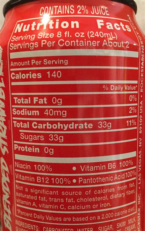 energy drink nutrition label redline energy drink nutrition label primus green energy