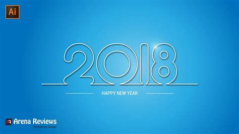 New Year Card Design In Illustrator Images   Card Design And Card Template