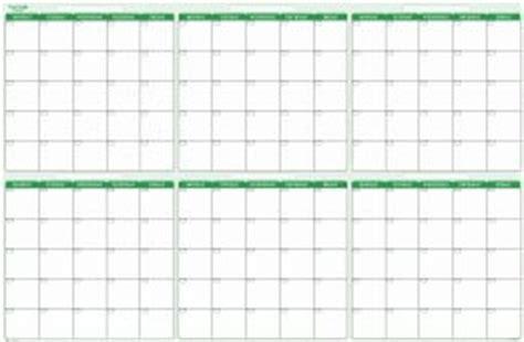 180 Day Calendar 180 Day Half Year Undated Erasable