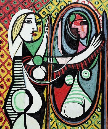 picasso paintings in mirror before a mirror painting pablo picasso before
