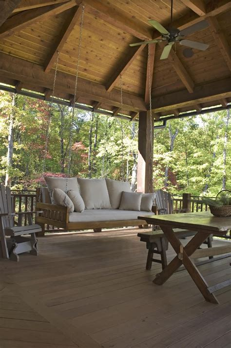 rustic porch swing sublime hanging chair swing decorating ideas images in
