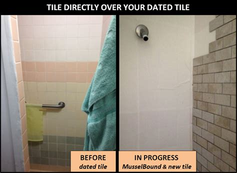 Bathroom Floor And Shower Tile Ideas by Musselbound Adhesive Tile Mat Diy Do It Yourself Projects