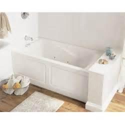 Deep Soaker Bathtubs American Standard Everclean 5 Ft Whirlpool Tub In White