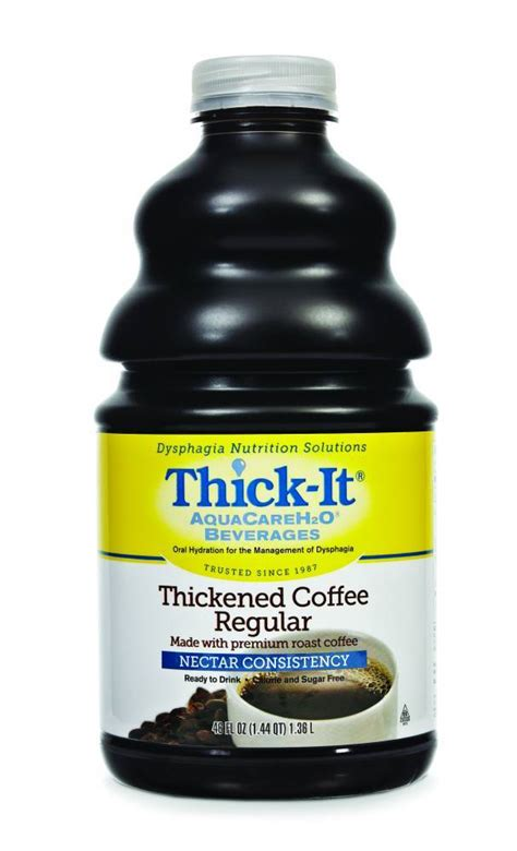Thick Liquid Stool by Thick It Aquacareh2o Regular Coffee Nectar Consistency
