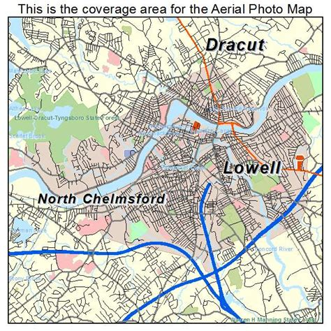 of massachusetts lowell aerial photography map of lowell ma massachusetts