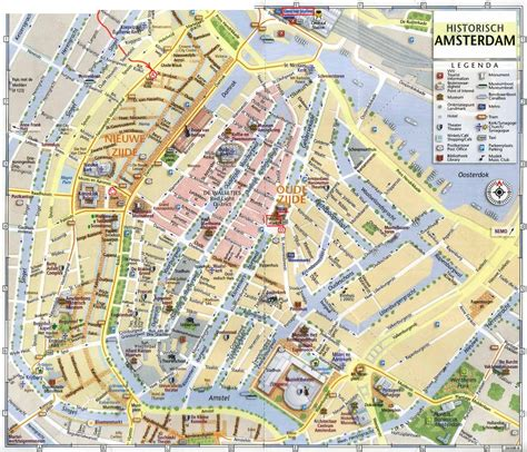Amsterdam Museums Map Www Mappi Net Maps Of Cities Amsterdam