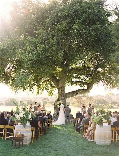 Wedding Ceremony Outside by 15 Wine Barrel Wedding Details Southbound