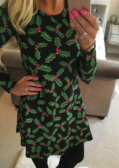 christmas leaf casual dress bellelily