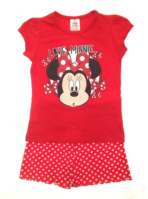 Piyama Minnie Mouse Import official disney minnie mouse pyjamas pj s set size 1 4 years