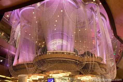 Cosmopolitan Las Vegas Chandelier New Year Decorations In Las Vegas At Protocol Snow