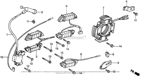 honda small engine parts diagram honda engines gx270 qxc9 engine jpn vin gcab 1000001 to