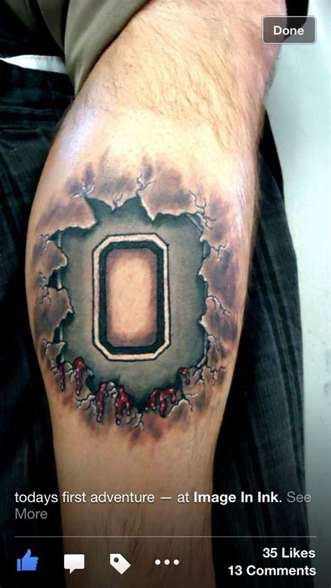 ohio state tattoo 25 best ideas about ohio state tattoos on