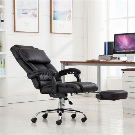 reclining desk chair with footrest reclining office chair with footrest padded reclining