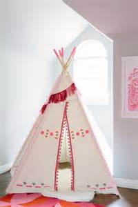 Paint Ideas For Girls Bedroom diy painted kids teepee design improvised