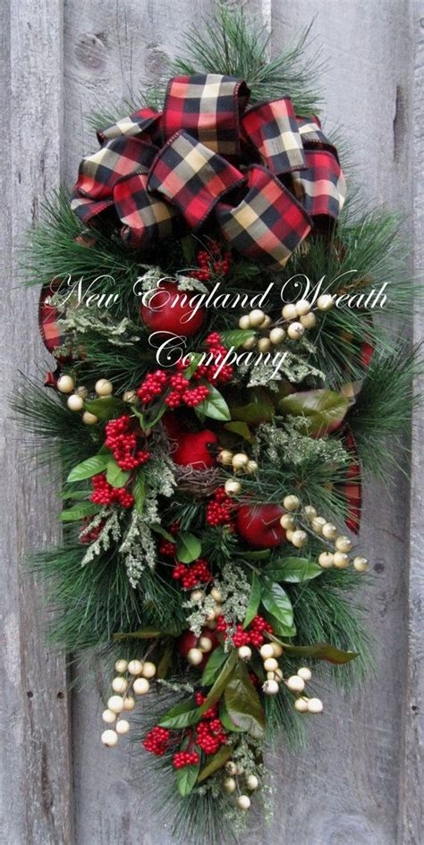 christmas wreath holiday wreath christmas swag cardinal