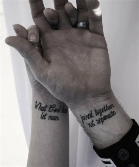 religious couple tattoos ideas to replace engagement rings glam radar