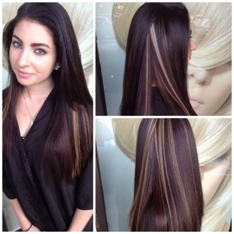 hairstyles and pick a boo color for brunette women over 50 30 vibrant peek a boo highlights ideas try them out