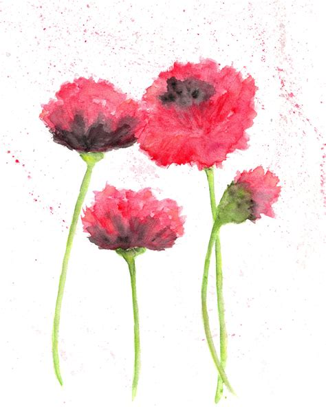 abstract watercolor paintings of flowers part 2 weneedfun