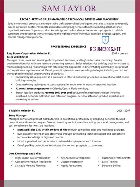 inside sales sample resume example of resume application sample