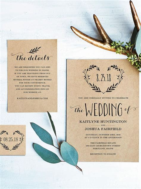 16 Printable Wedding Invitation Templates You Can Diy Printable Wedding Invitation Templates