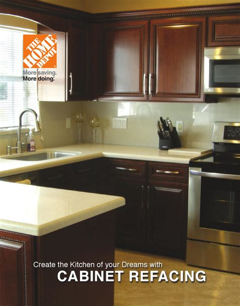 the home depot cabinet refacing brochure by us