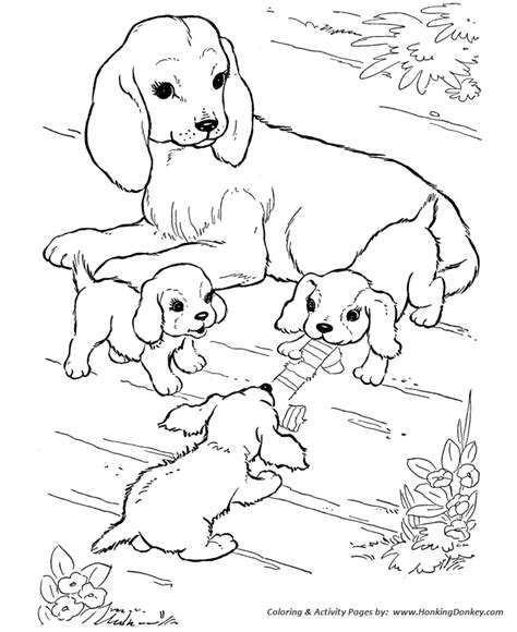 litter of puppies coloring pages dog coloring pages mother dog watching her puppies play