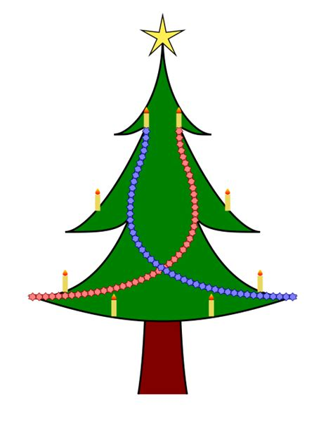 how can we draw a christmas tree with decorations using