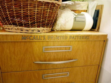 vintage mccalls pattern cabinet diane s sewing room the cloth parcel