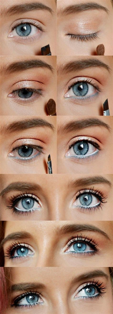 eyeliner tutorial top and bottom 1000 ideas about blue eyes on pinterest makeup for blue