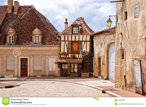 quaint town stock photos quaint town stock images alamy timbered house on a quaint street in burgundy france