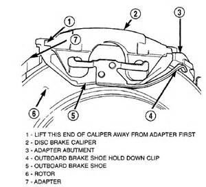 Dodge Caravan Brake System Diagram How Do I Replace The Rear Brake Pads On A Dodge Caravan With