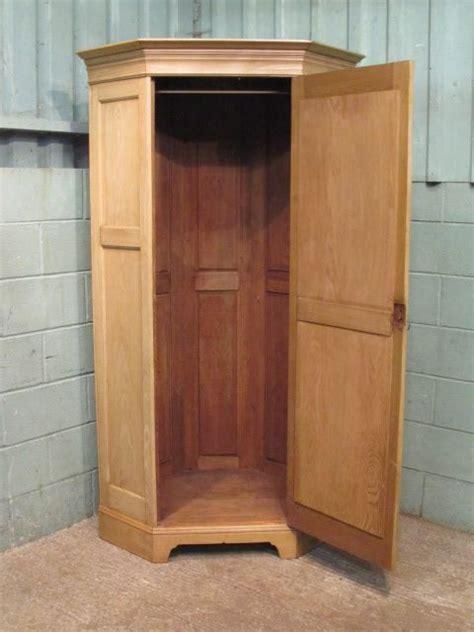 Oak Corner Wardrobe antique stripped waxed oak corner wardrobe c1880 330124 sellingantiques co uk